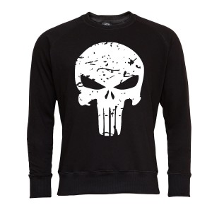 PUNISHER BLUZA MĘSKA PUNISHER SEASON MARVEL WHITER