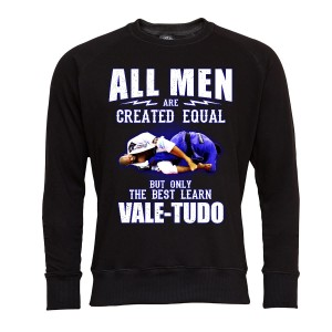 MARTIAL ARTS BLUZA MĘSKA ALL MEN ARE CREATED EQUAL BUT ONLY THE BEST LEARN VALE-TUDO