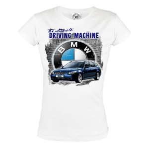 KOSZULKA DAMSKA THE ULTIMATE DRIVING MACHINE BLUE