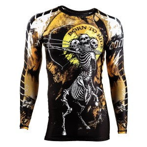 RASHGUARD BORN TO RIDE THREE HEADS