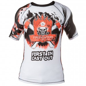 RASHGUARD FIREFIGHTERS FIRST IN LAST OUT